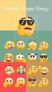 Middle Finger Emoji Sticker