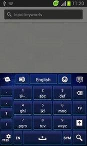 GO Keyboard Dark Blue Themes