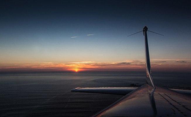 Cessna Aircraft Sunset