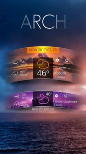 Arch GO Weather Widget Theme