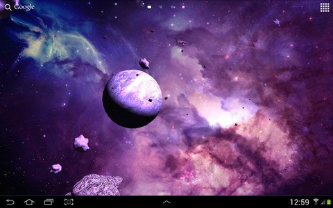 Asteroids 3D live wallpaper