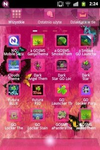 GO Launcher EX Theme Pink Cute