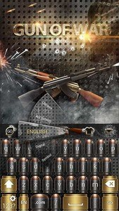Gun of War GO Keyboard Theme