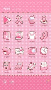 Pinky Bow GO Launcher Theme