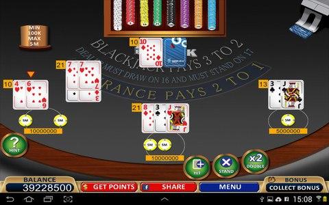 Blackjack 21+ Casino Card Game