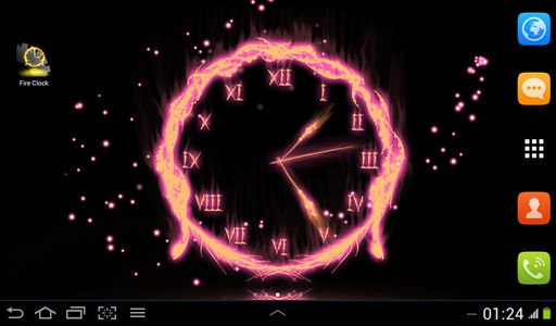 Fire Clock Live Wallpaper