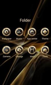 Black Gold GO Launcher Theme