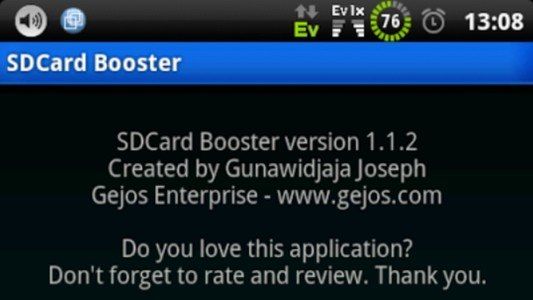 SDCard Booster (root)