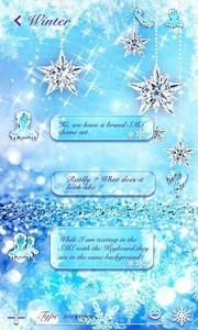 (FREE) GO SMS SNOWFLAKE THEME