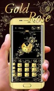 Gold Rose GO Keyboard Theme