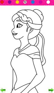 Frozen Princess Coloring