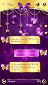 GO SMS ROYAL BUTTERFLY THEME