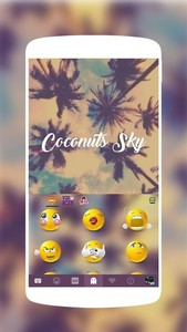 Coconuts Sky Kika Keyboard