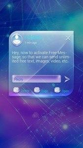 FREE-GO SMS BRIGHT GLASS THEME
