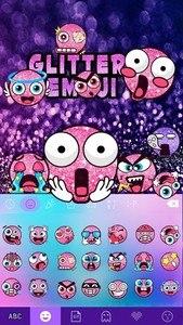 Glitter Emoji Kika Keyboard
