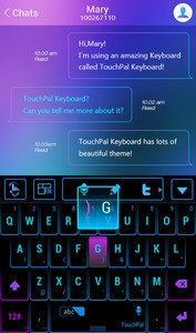 TouchPal Neon Light Theme