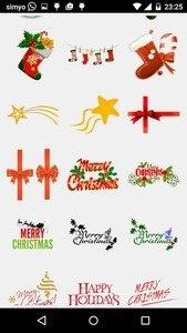 Merry Christmas Photo Stickers