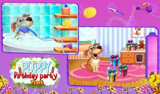 Puppy Birthday Party Time