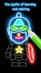 Draw Glow Cartoon
