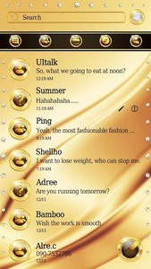 (FREE) GO SMS PURE GOLD THEME