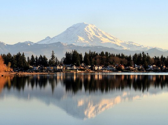 Mountain Background Lake
