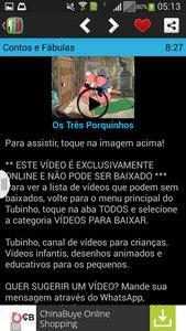 Tubinho Desenho Infantil Vídeo