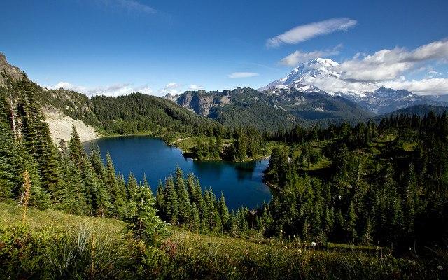 Beautiful Lake In The Mountains