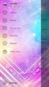 FREE-GO SMS SHINING STAR THEME