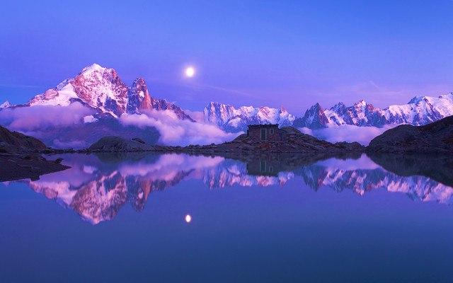 French Alps Dusk