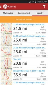 Map My Ride GPS Cycling Riding