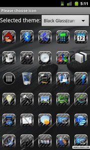 Black Glass Go Launcher Theme