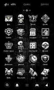 Black Night GO Launcher Theme