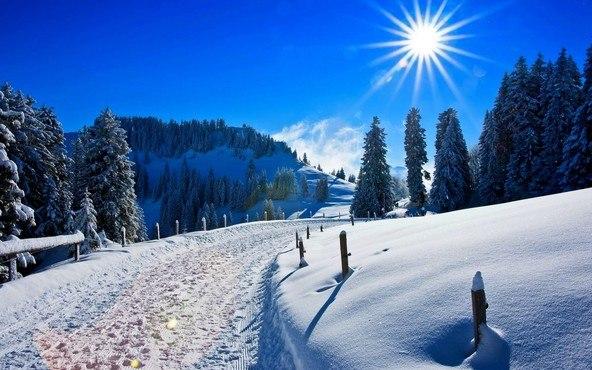 Winter Sun Road