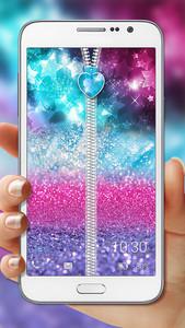 Glitter Zipper Lock