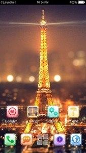 Paris Night C Launcher Theme