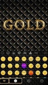 Gold Theme for KikaKeyboard