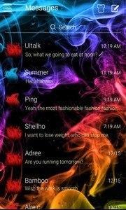 (FREE) GO SMS SMOKECOLOR THEME