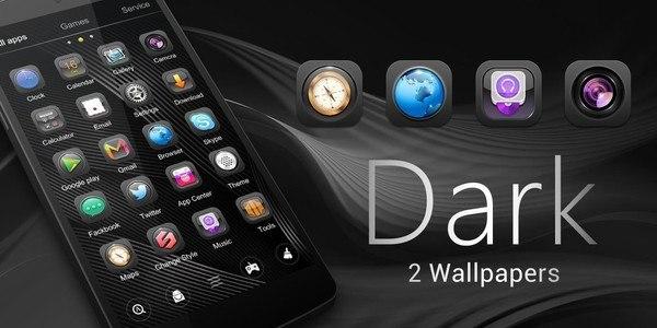 Dark GO Launcher Theme
