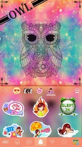 Owl Kika Emoji Keyboard Theme