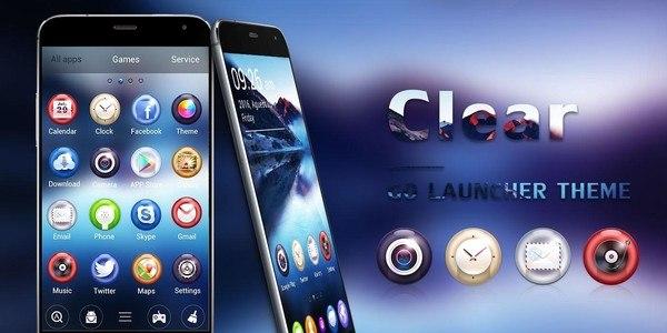 Clear GO Launcher Theme