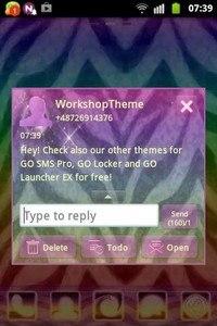 GO SMS Theme Zebra