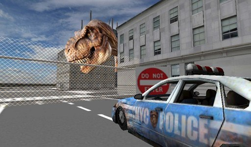 Dino in City-Dinosaur N Police