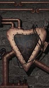 Steampunk heart live wallpaper