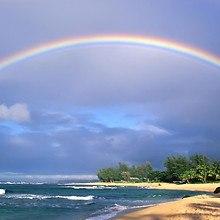 Rainbow Over Beach