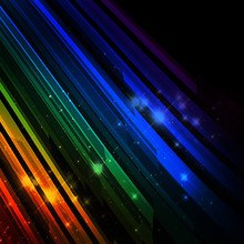 Rainbow Abstract Lines