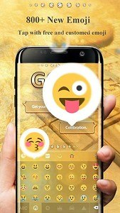 Gold Pro GO Keyboard Theme