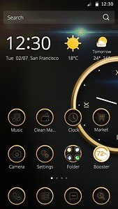 Luxury Clock theme