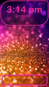 Glitter Lock Screen
