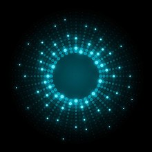 Neon Dots Light Blue