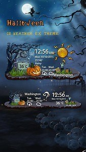 Halloween Weather Widget Theme
